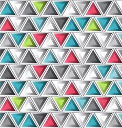 Abstract colored triangle seamless pattern vector