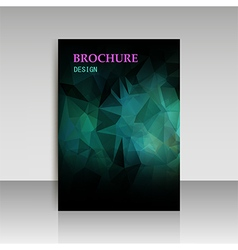 Abstract modern cover report brochure flyer design vector image