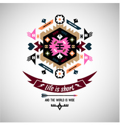 Abstract ornament element aztec native vector