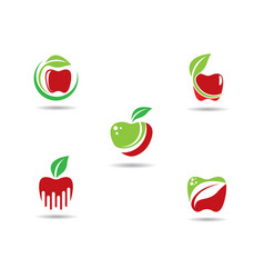 apple logo template vector image