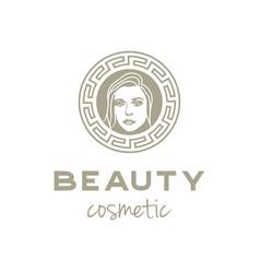 artistic beauty woman logo design vector image