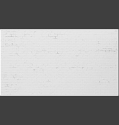 background wall old white brick painted brick vector image