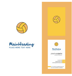 basketball creative logo and business card vector image