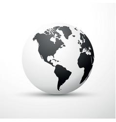 black earth globe world map design america vector image