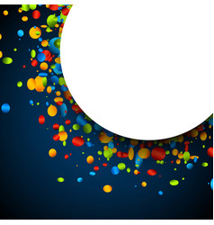 blue background with colorful confetti vector image