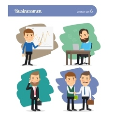 cartoon businessman set vector image