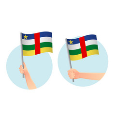 central african republic flag in hand icon vector image