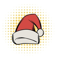 Christmas hat comics icon vector