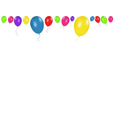 color composition of realistic balloons vector image