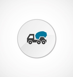 concrete mixer icon 2 colored vector image
