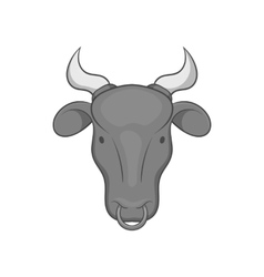 Cow icon black monochrome style vector