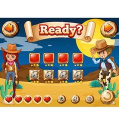 Cowboy game vector image