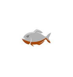 creative piranha fish logo vector image
