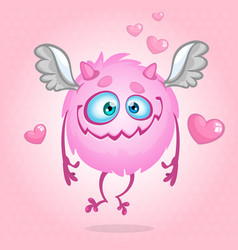 cute monster in love vector image