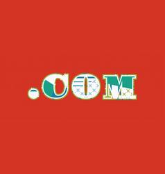 Dot com concept word art vector