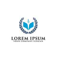 Education university logo design concept template vector