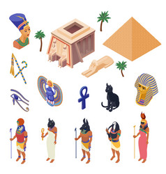 egypt isometric set vector image