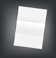 Empty Paper Sheet with Shadows vector image