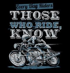 Everyday riders vector