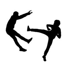 Fight silhouette vector