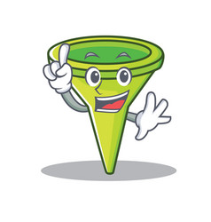 Finger funnel character cartoon style vector