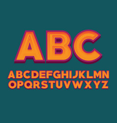 font design alphabet letter image english vector image