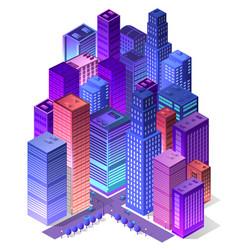 Future 3d futuristic isometric vector