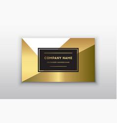 Golden business card vector