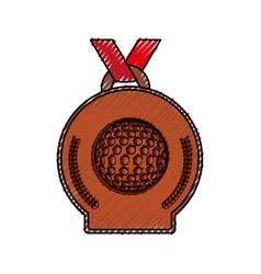 Golf winner medal vector