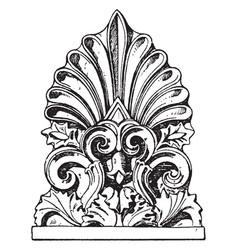 Greek antefix tiles vintage engraving vector