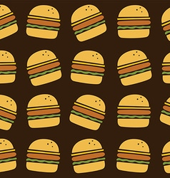 Hamburger art pattern vector