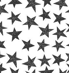 Hand drawn pattern from stars vector image