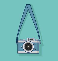 hanging retro camera flat style design vector image