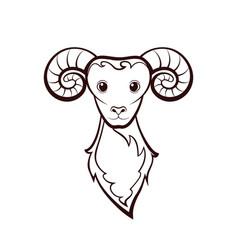 Head of a sheep vector
