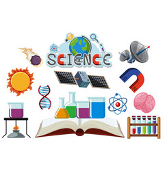 Icon design for science on white background vector