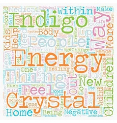 Indigo Crystal Phenomena ADD ADHD Children text vector image