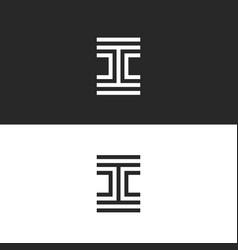 Letter i logo monogram creative template modern vector
