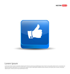 like icon - 3d blue button vector image