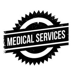 Medical services rubber stamp vector