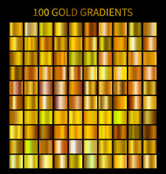mega collection of golden gradients vector image