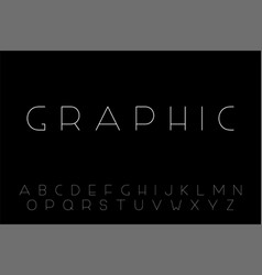 minimalistic font - creative english vector image