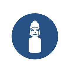 Moai statue icon vector