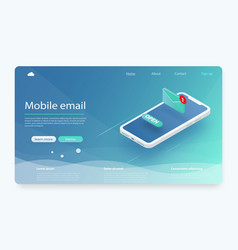 Mobile email service isometric vector