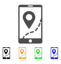 mobile map navigation icon vector image