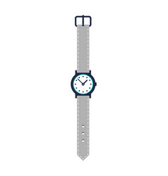modern wristwatch isolated icon vector image