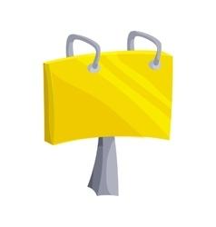 Paper clip icon cartoon style vector