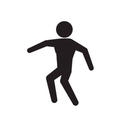 pictogram action silhouette move icon vector image