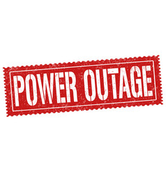power outage grunge rubber stamp vector image