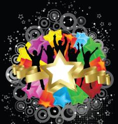 retro party stars vector image