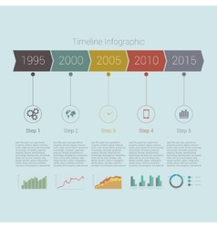 Retro Timeline Infographic design vector image